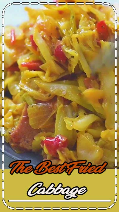 This Fried Cabbage recipe is insanely good! Made with bacon, onion, bell pepper, and a touch of hot sauce, it is easy to make, simple, and comes out perfect every time! Make this easy cabbage recipe today! FOLLOW Cooktoria for more deliciousness! #cabbage #bacon #dinner #lunch #mealprep #lowcarb #keto #ketosis #recipeoftheday