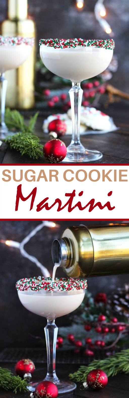 Sugar Cookie Martini #drinks #alcohol #christmas #cocktails #beverages