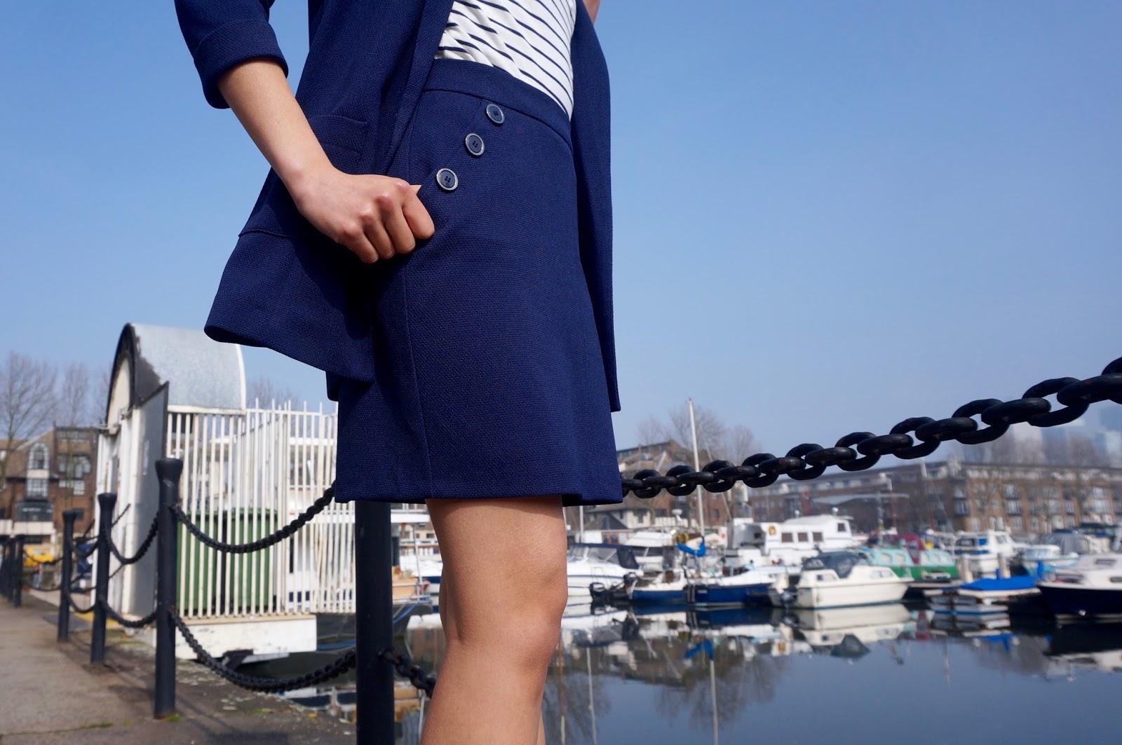 Riviera Chic navy skirt