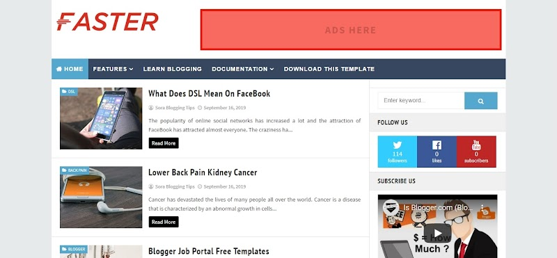 Fastest Fast Loading Responsive Blogger Template