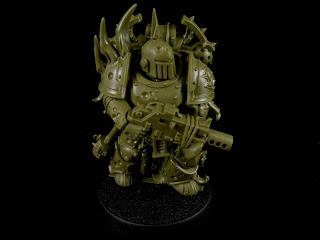 A Death Guard Plague Marine from Warhammer 40,000: First Strike.
