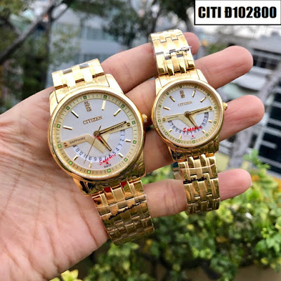Đồng hồ cặp đôi màu vàng Citizen Citi Đ102800