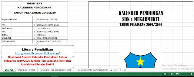 Aplikasi Analisis Kalender Pendidikan Tahun Ajaran 2019/2020 Sekolah Dasar, http://www.librarypendidikan.com/