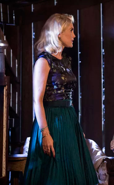 Sandra (Flavia Alessandra) Eta mundo bom, figurino, vestido verde