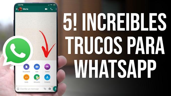 5! INCREIBLES TRUCOS DE WHATSAPP QUE DEBES ACTIVAR!