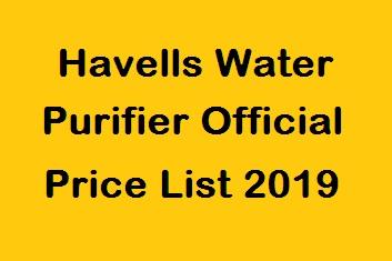 Water Purifier Price List