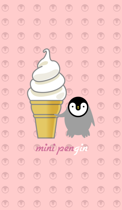 mini penguin + soft ice cream