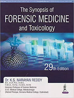 Synopsis of Forensic Medicine and Toxicology 29th Edition 2017 By K.S.Narayan Reddy pdf free download