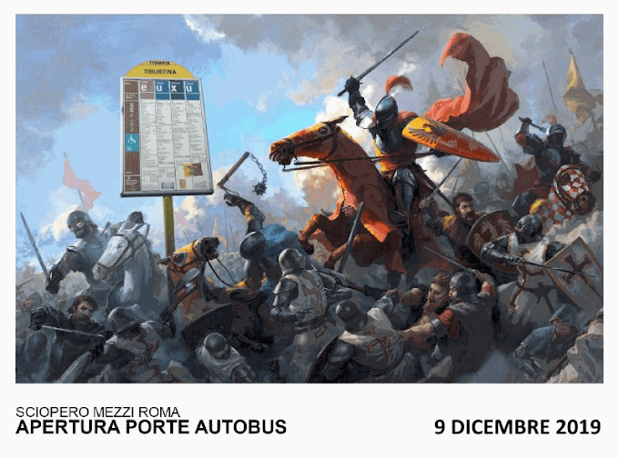 Sciopero a Roma di Atac e Cotral lunedì 9 dicembre 2019