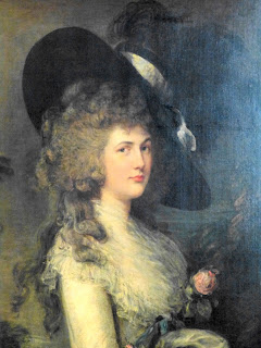 Georgiana, Duchess of Devonshire  by Thomas Gainsborough  in South Sketch Gallery, Chatsworth