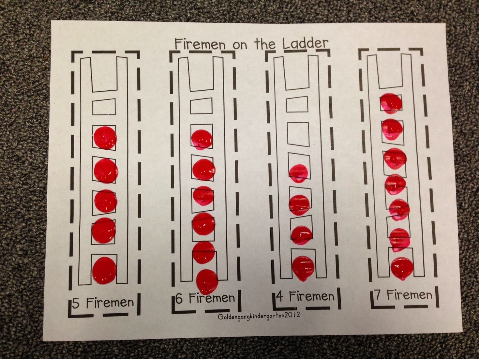 Fire Safety Math Worksheets For Preschool