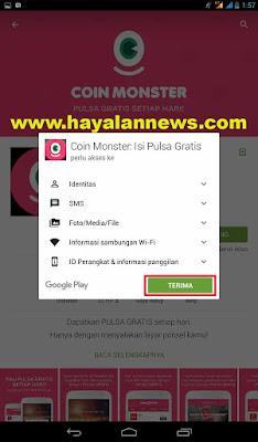 Pulsa android gratis dari coin monster aplikasi lock screen