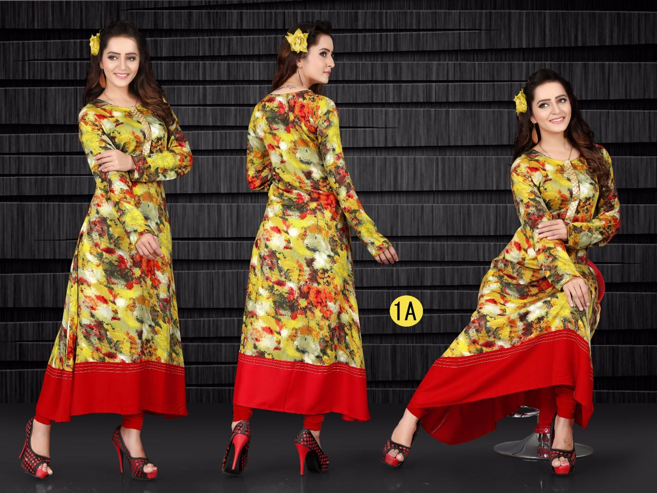 Zia 2 – Amazingly Stylish Printed Viscose Rayon Long Kurtis