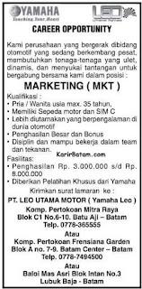 Lowongan Kerja PT. Yamaha Leo Indonesia