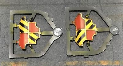 Adeptus Titanicus Legio Ignatum Warlord Titan WIP - gun shields