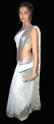 Dress no. 47 - Deepika in white Saree