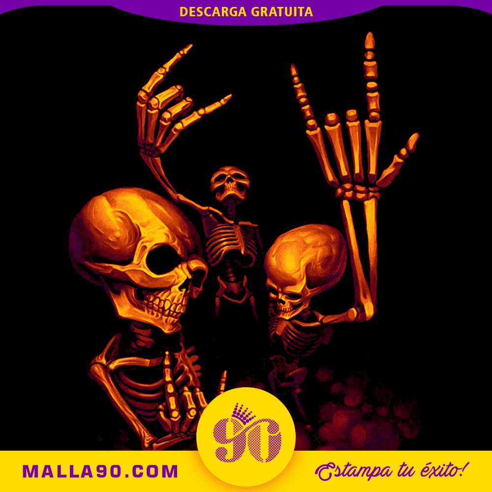 esqueletos rockeros