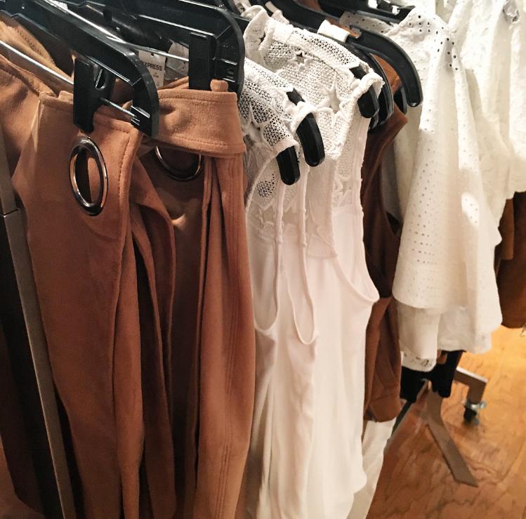 Express Store New Arrivals Fall 2016 High Split Suede Skirt