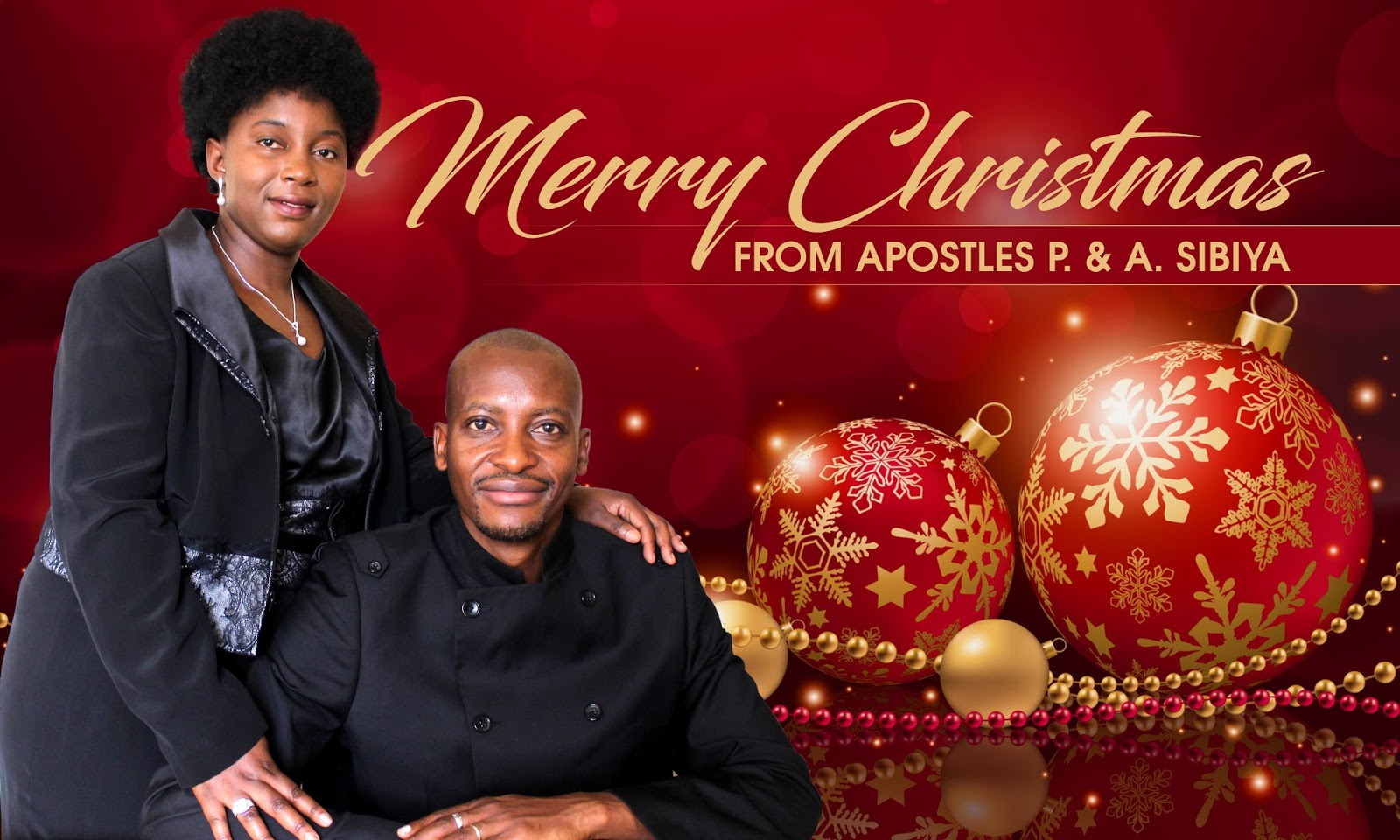 Apostle Pride & Anna Sibiya and The Glory Ministries Family Wishes You A Merry Christmas