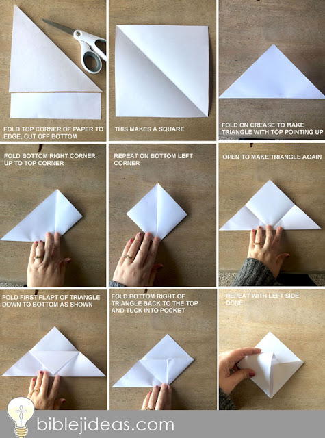 How to make an origami corner bookmark