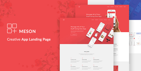 Download] Meson - App Landing WordPress Theme - WordPress Themes