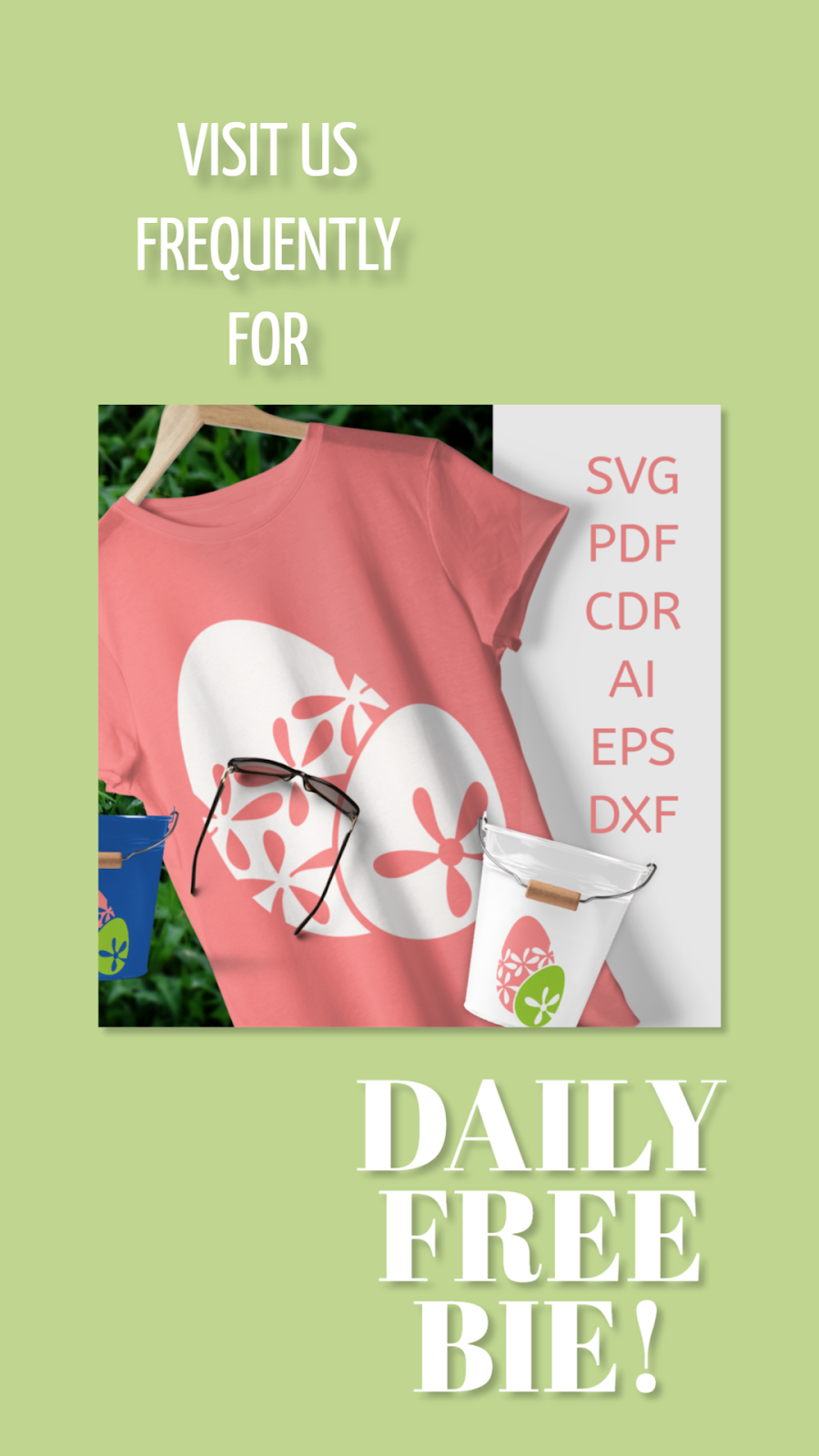 Daily Freebie Day 5 SVG Easter Eggs with flowers