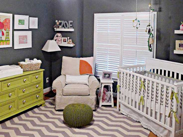 Desain Kamar Bayi Perempuan Minimalis Sederhana