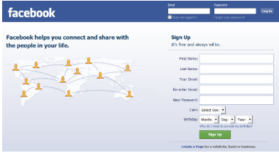 Facebook Login Sign in Up