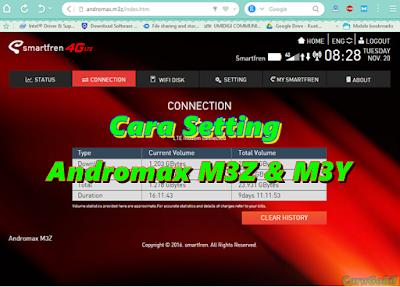 Cara mudah setting mifi Andromax M3z dan M3y