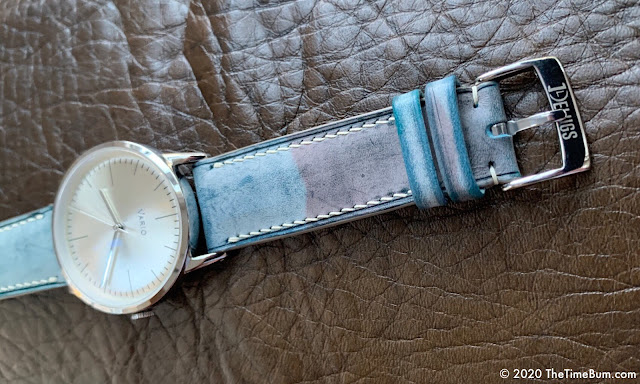 Delugs Watch Straps Waxed Camouflage blue