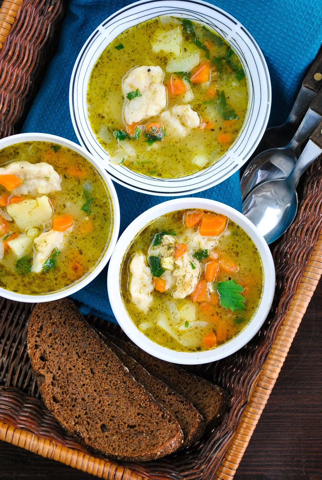 Vegetable and Dumpling Soup | Homemade Vegetable Soup Recipes