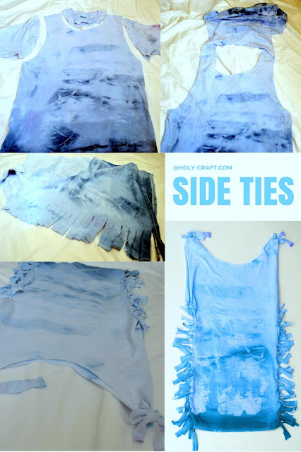 Tie Dye party with 6 different tie dye shirt restyle creations