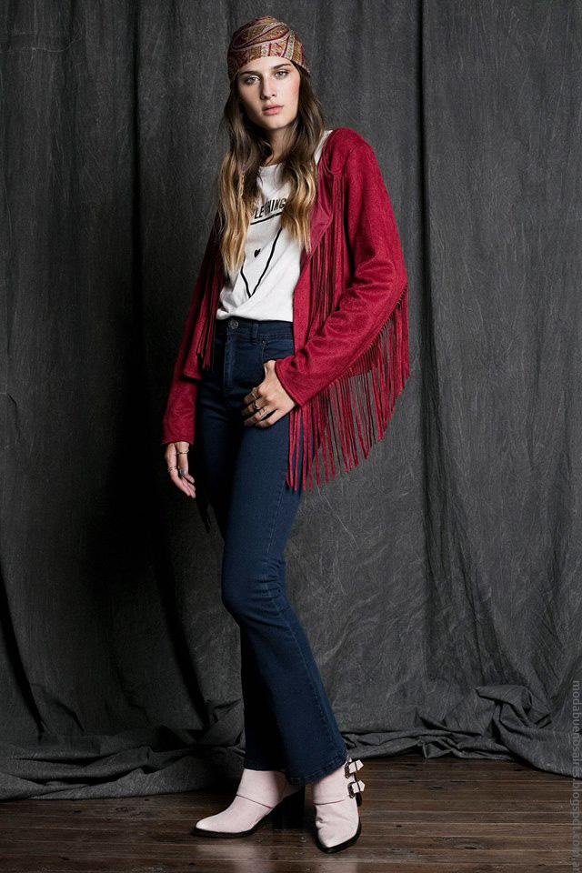 Camperas con flecos invierno 2016 ropa de mujer. Moda invierno 2016 Sans Doute.