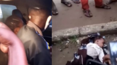Police Nab Suspected Mad Man With A Dead Baby In Aba (Video)
