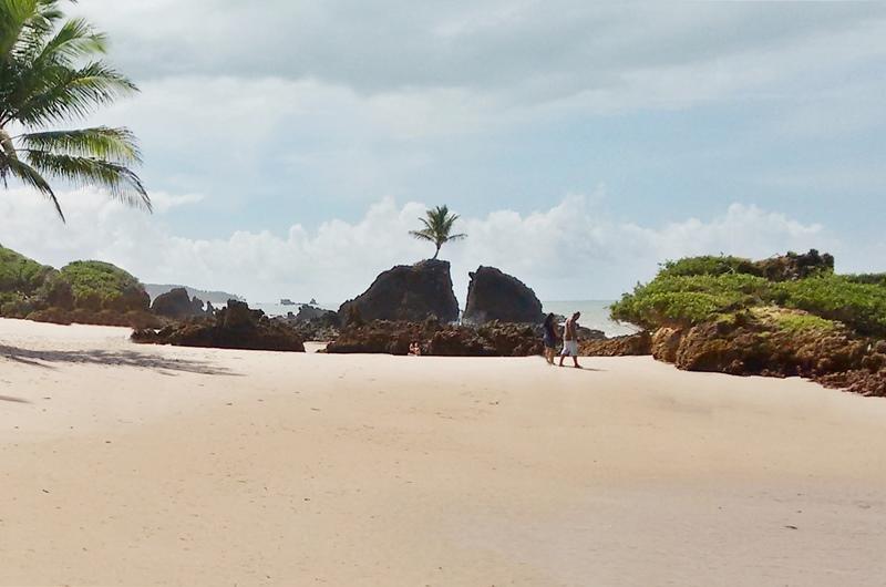 Praia de Tababa, praia de nudismo