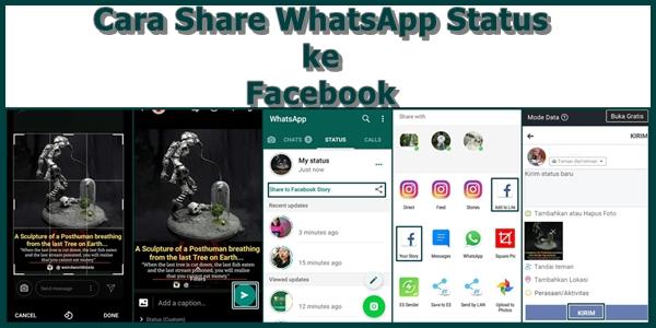 Begini mudahnya cara share WhatsApp status ke Facebook 5 Cara Share WhatsApp Status ke Facebook