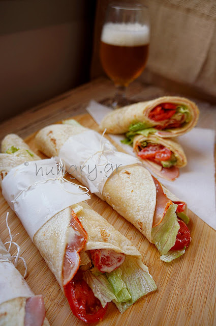 Sandwich Pita Bread Roll with Cheese & Ham