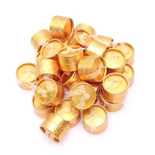 """Коробкадля бижутерии под кольцо подарочная""""Круг золото"""" box4"""