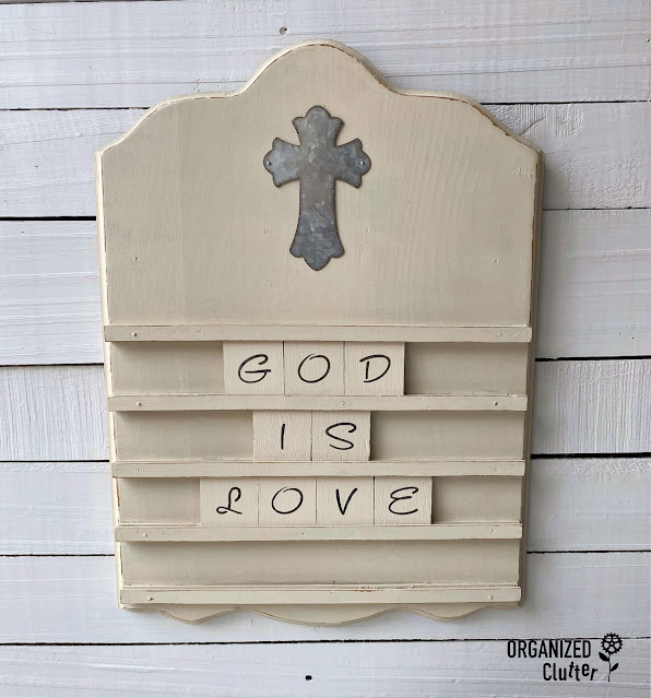 Photo of Bible verse letter board