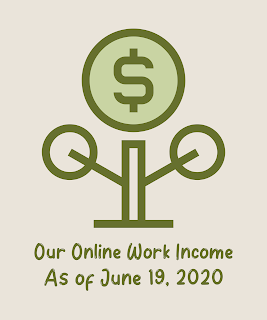 Our Online Work Income as of June 19, 2020