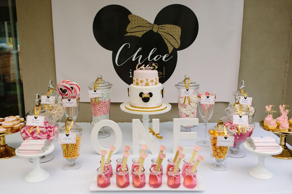 Part 2 Miss Cs Pink And Gold Minnie Mouse 1st Birthday Party