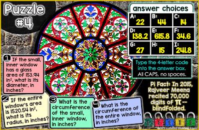 Pi Day digital math escape room