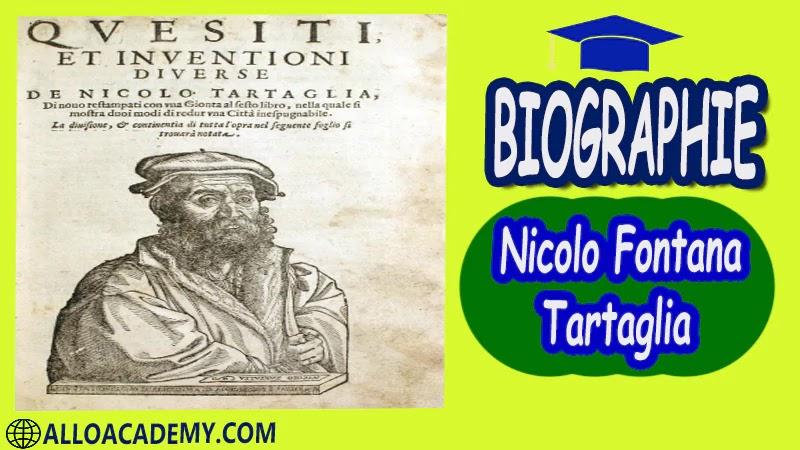 Nicolo Fontana dit Tartaglia (1499 - 1557)- biographie Mathématicien italien, né dans la république de Venise  autobiographie autobiographie livre écrire une autobiographie biographie a lire autobiographiques livre autobiographique gratuit