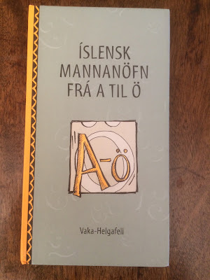 Iceland's book of names. Photo by Michael Ridpath, author of the Magnus series of crime novels.