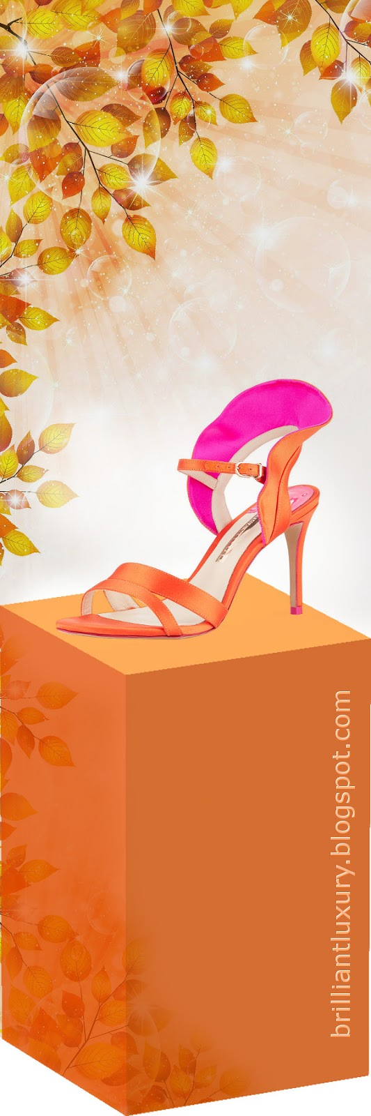 Brilliant Luxury ♦ Sophia Webster Lucia coloblock ruffle sandals #orange