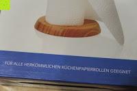 geeignet: Lumaland Cuisine Küchenrollenhalter aus Bambus mit Edelstahl Spitze, Ø ca. 14 cm x 32 cm