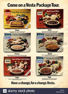 1970s Vesta dehydrated packet meals advertisement