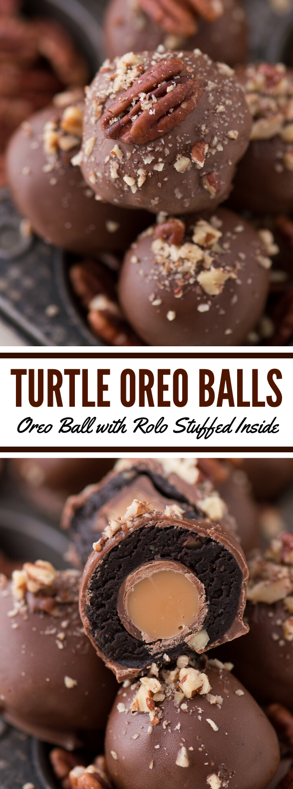 Turtle Oreo Balls #chocolate #dessert