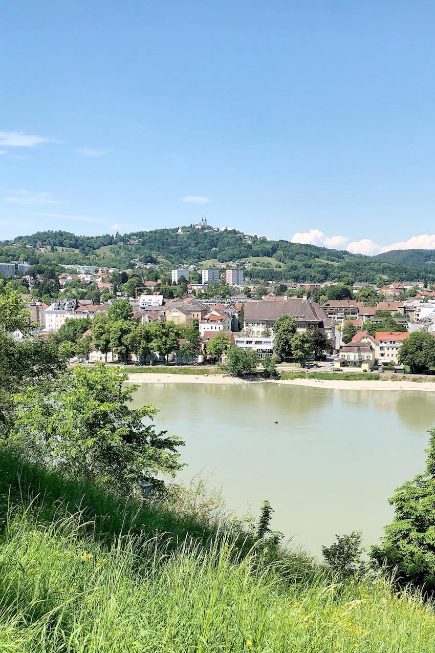 Blick auf Alturfahr vom Schlosspark aus