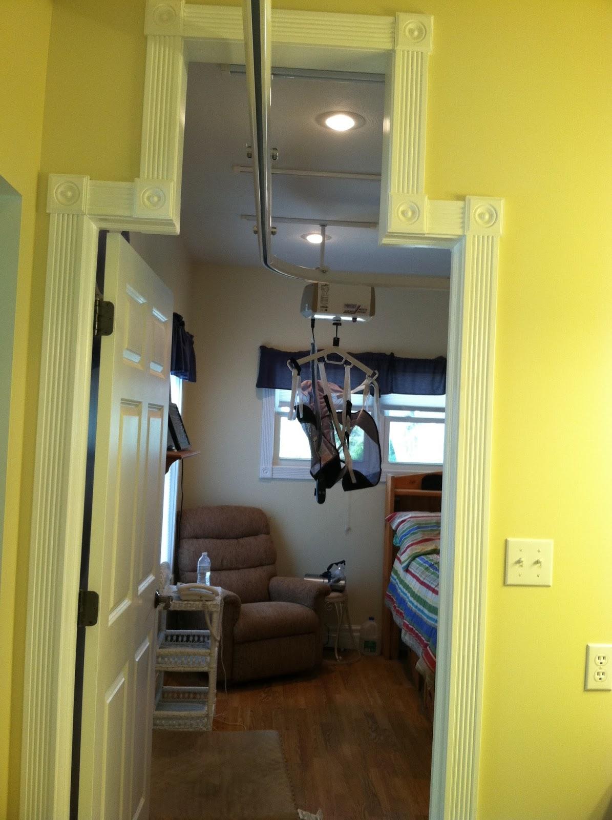 Ceiling Lift Tracks Through Doorframes Universal Design